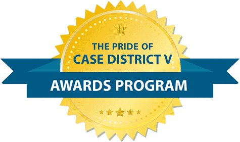 CASE District V Pride of CASE V Award logo