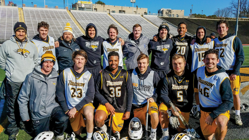 Towson University men's lacrosse players