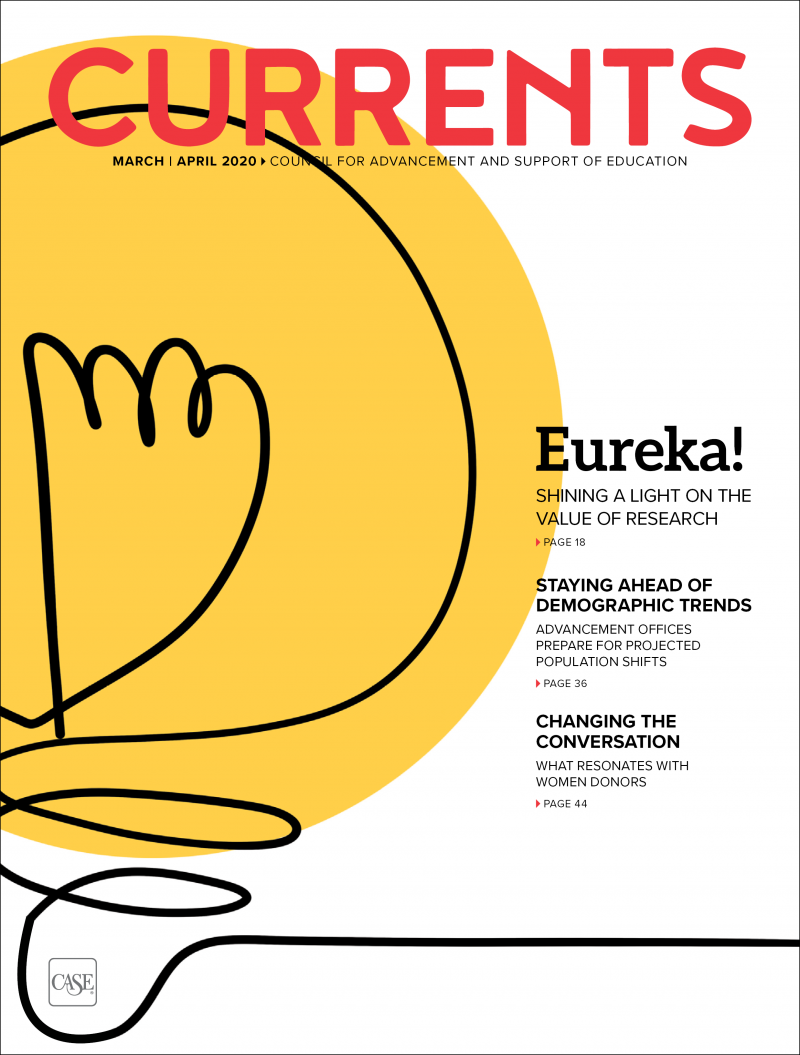 Cover for the March-April 2020 issue of Currents