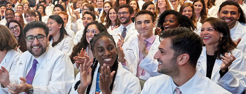 NYU School of Medicine students at its 2018 white coat ceremony