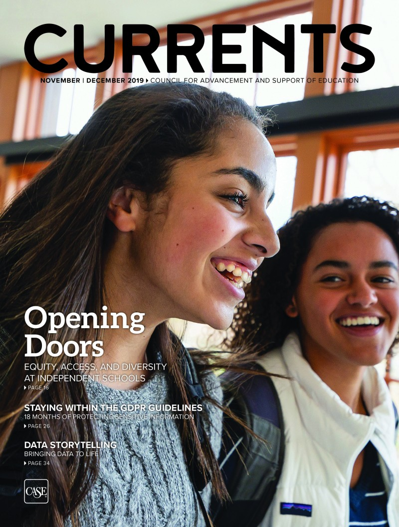 Cover for the November - December 2019 issue of Currents