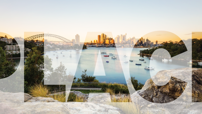 Photo of Sydney with PLACE superimposed over image