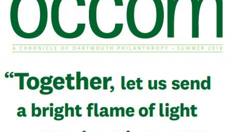 OCCOM: a Chronicle of Dartmouth Philanthropy newsletter