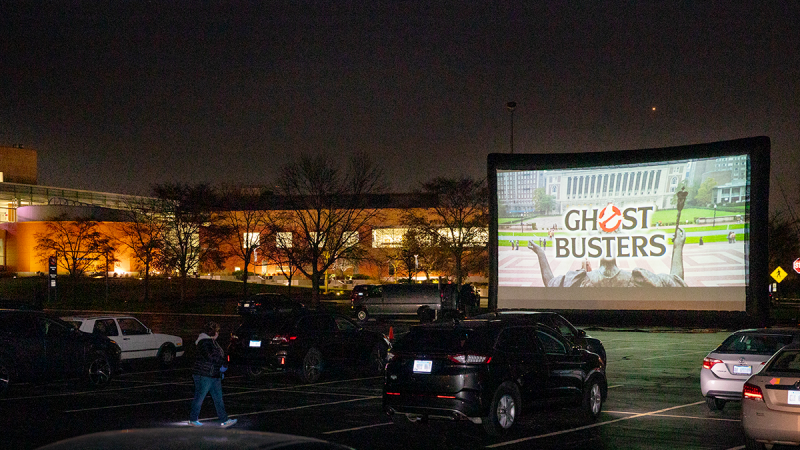 Drive-in screening of Ghostbusters