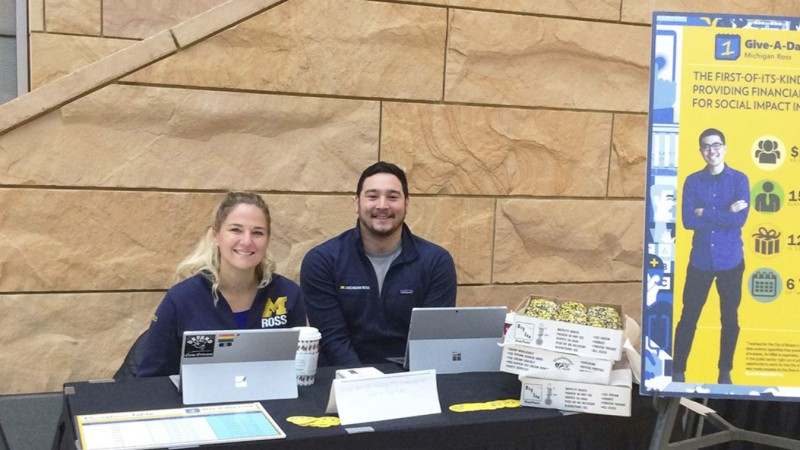 Michigan Ross Students' Give-A-Day Fund Participation