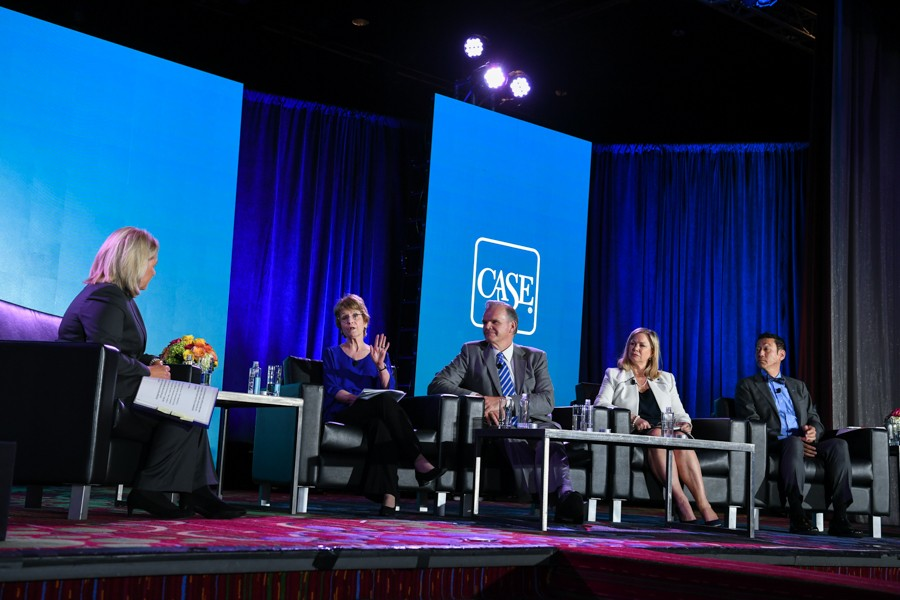 CASE President and CEO Sue Cunningham led a distinguished panel in a discussion about this important issue at the CASE Summit for Leaders in Advancement in New York City.